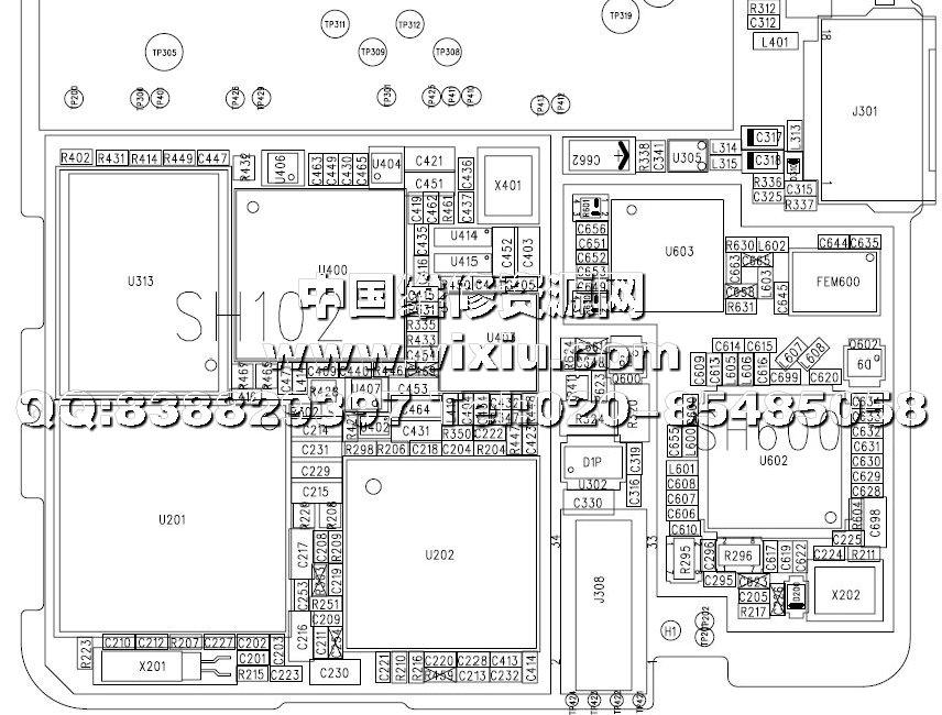 手机主板构造电路图图片 手机主板电路图讲解,小米手机主板