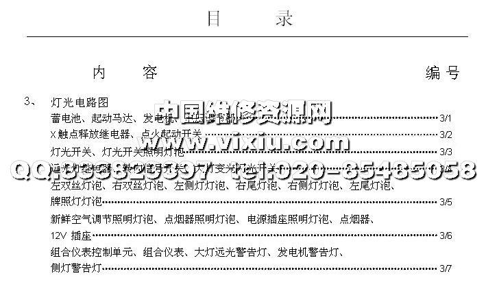 上海大众高尔电路图维修资料手册