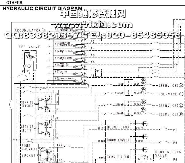 小松挖掘机电路图解_小松挖掘机电路图