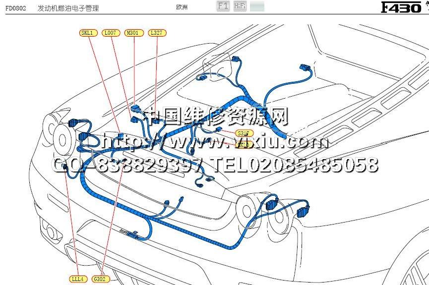 2008法拉利f430电路图