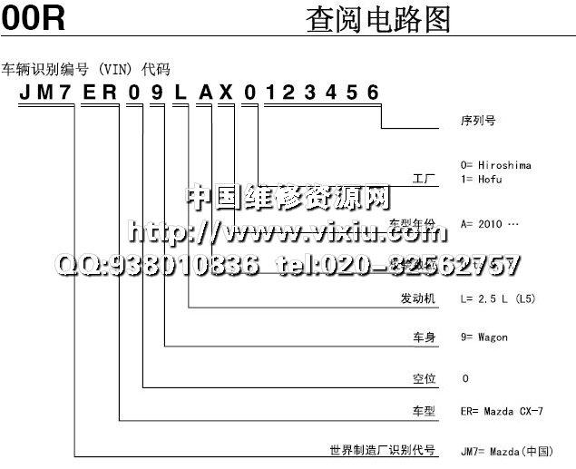 2010一汽马自达cx-7全车电路图