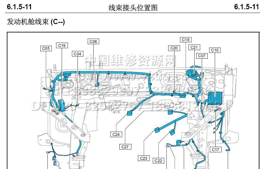 2011长安cx20电路图维修手册资料