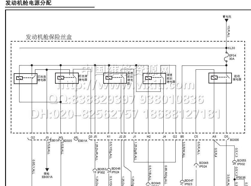 2011上汽荣威w5电路图维修资料