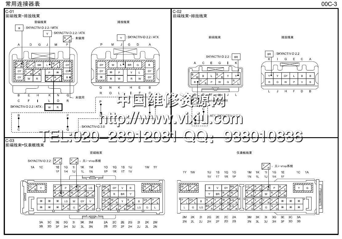 2012-2014款长安马自达cx-5中文电路图维修资料