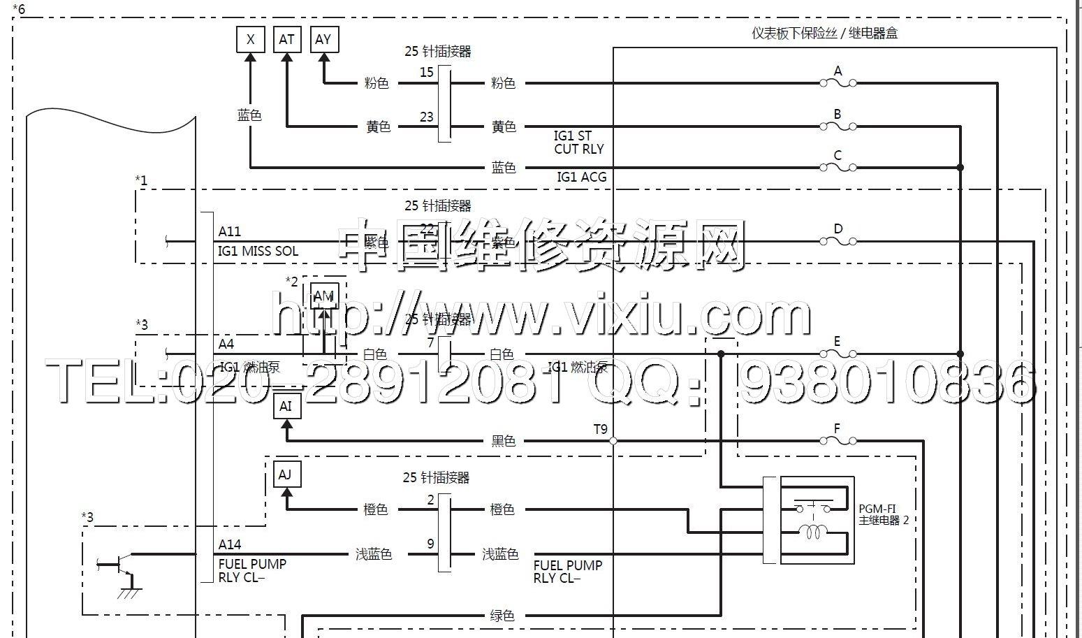 2014-2015款广州本田飞度三代fit3维修手册带电路图