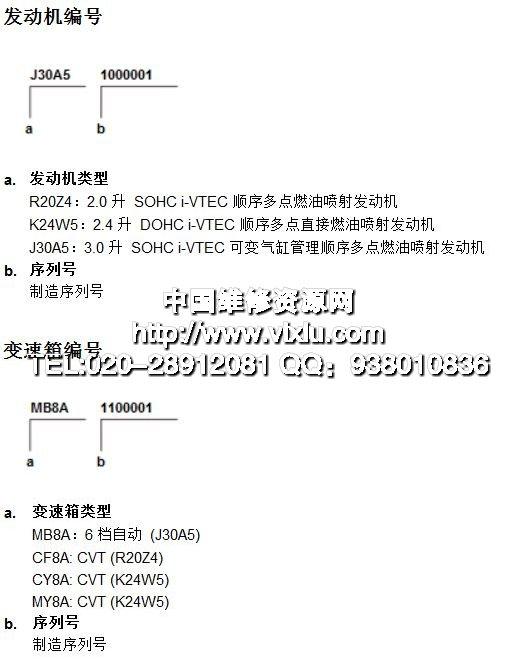 2013-2014款广州本田雅阁9代维修手册电路图维修资料
