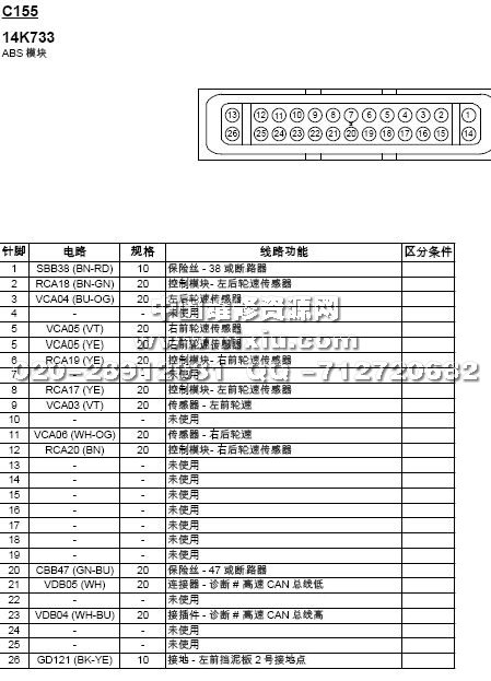 2015款起长安福特福睿斯全车电路图册维修资料