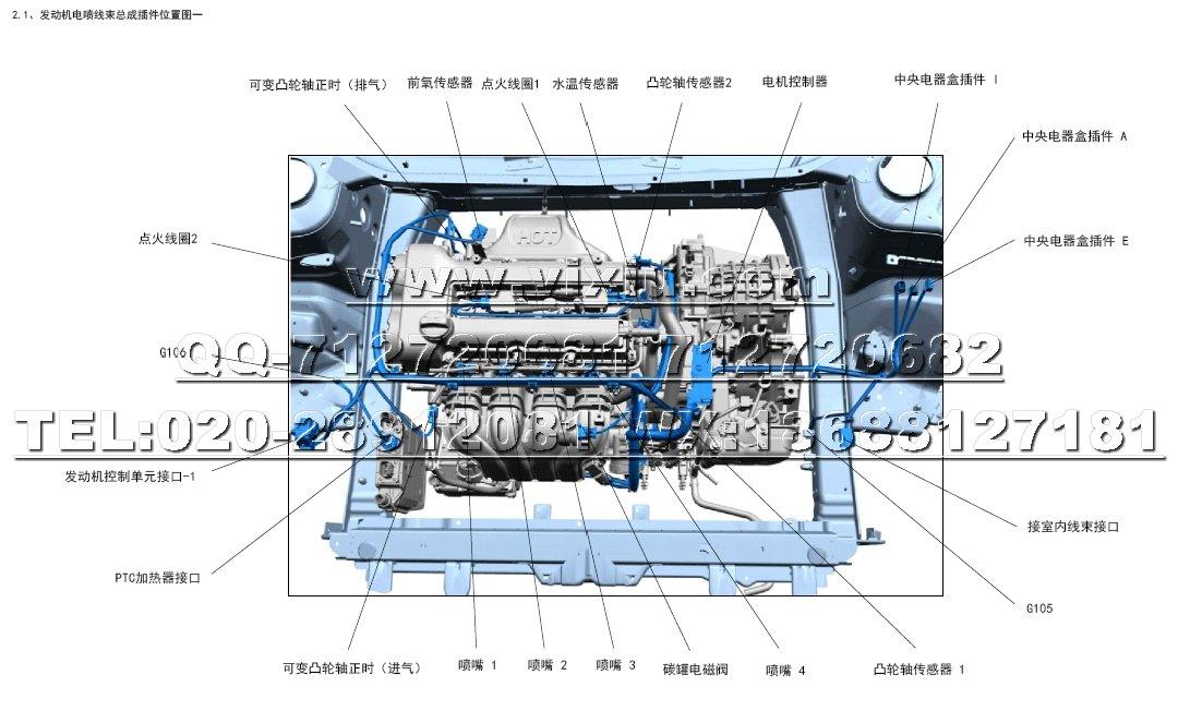 2016款奇瑞艾瑞泽7-phev电动汽车维修电路图资料