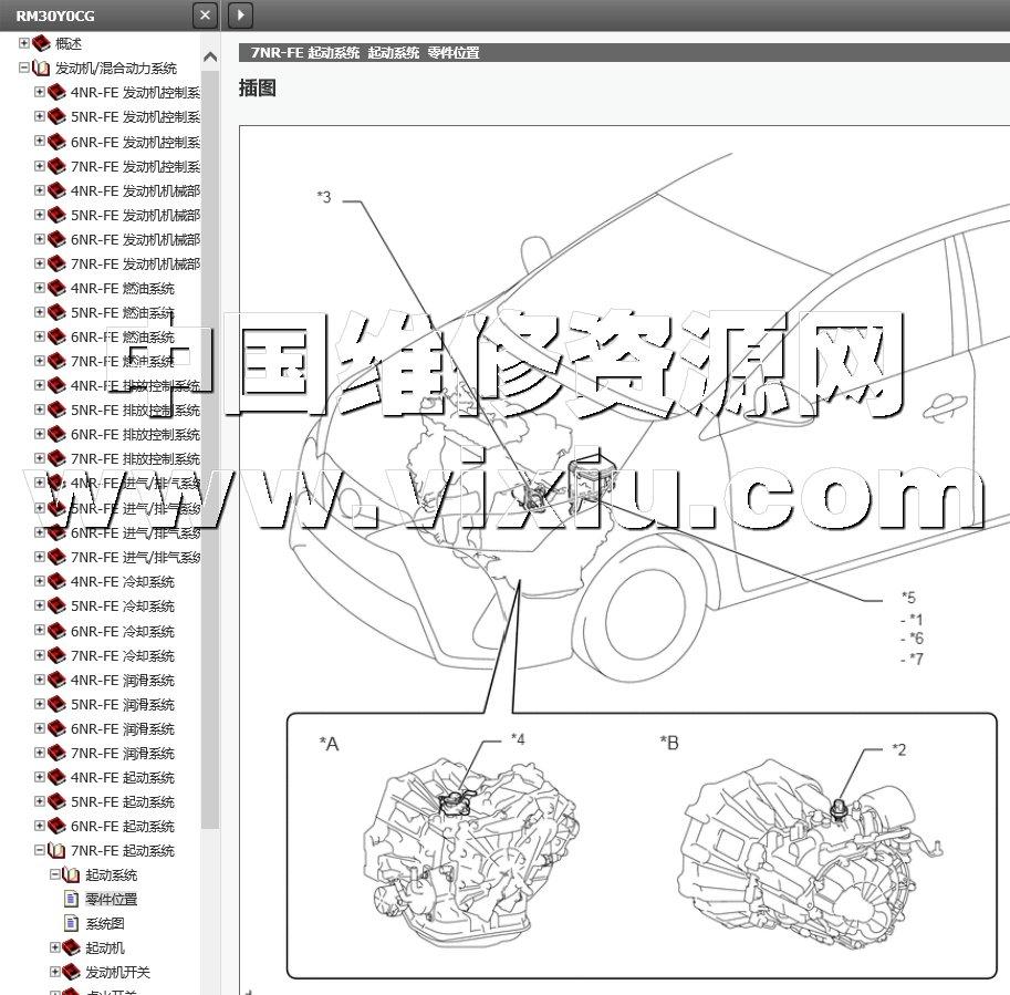 2017-2013款一汽丰田威驰-亠汽丰田致炫致享维修手册带电路图资料详细