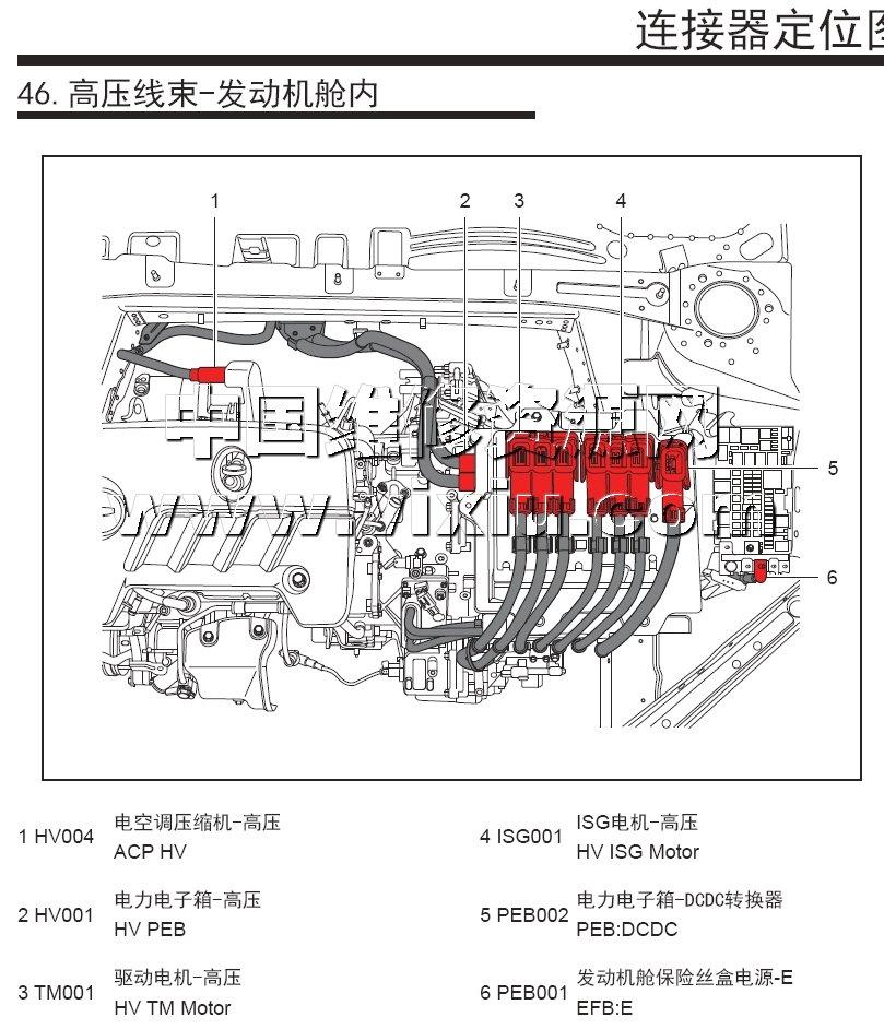 2017款上汽荣威ei6插电混动phev电动汽车维修手册带电路图资料详细
