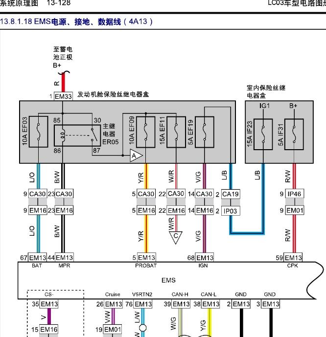 2017款吉利远景x1汽车全车电路图维修资料