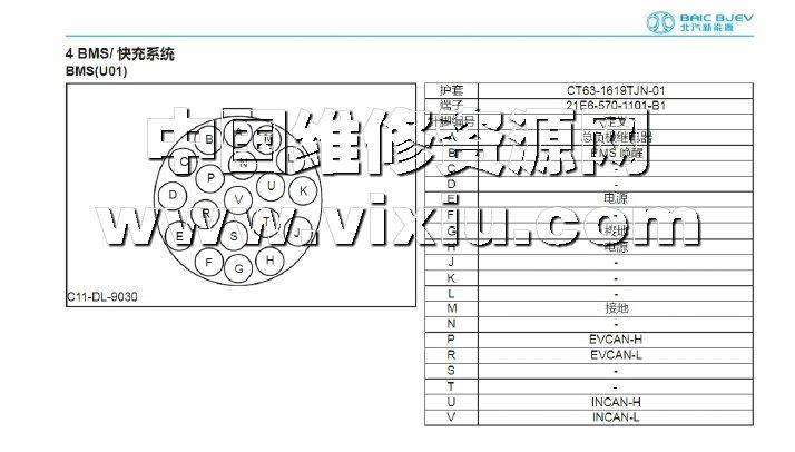 2017款北汽新能源lite纯电动汽车维修手册带电路图资料