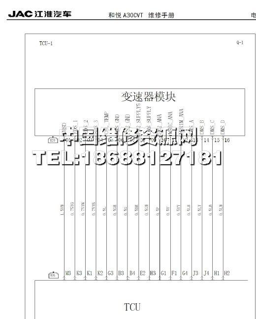 江淮和悦a30汽车cvt车型全车电路图